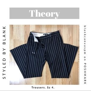 Theory Striped Trouser Pants